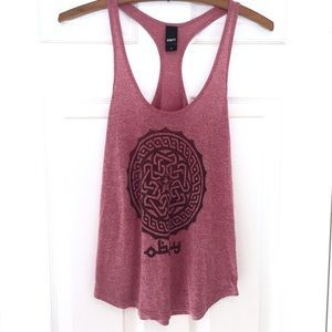 OBEY Red Racer Back Tank Top SMALL